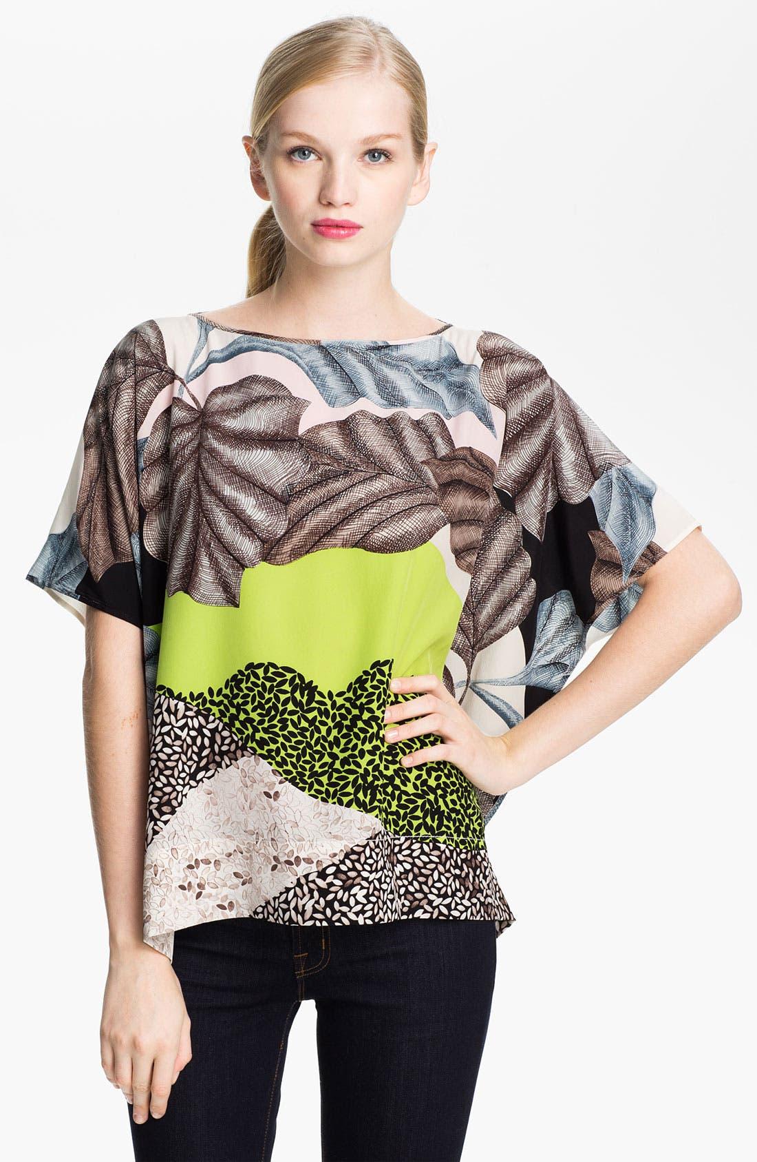 Alternate Image 1 Selected - Diane von Furstenberg 'New Hanky' Silk Top