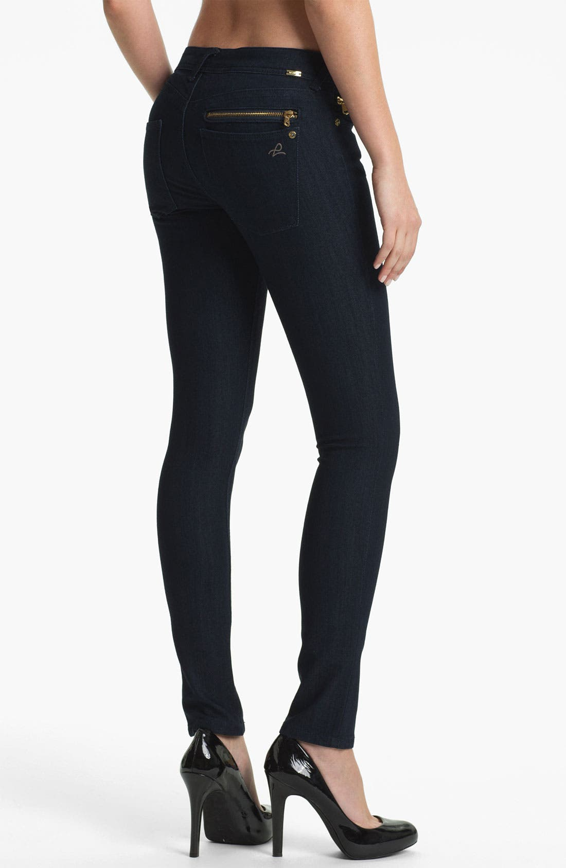 Alternate Image 2  - DL1961 'Amanda' X-Fit Stretch Denim Zip Pocket Skinny Jeans (Archer)