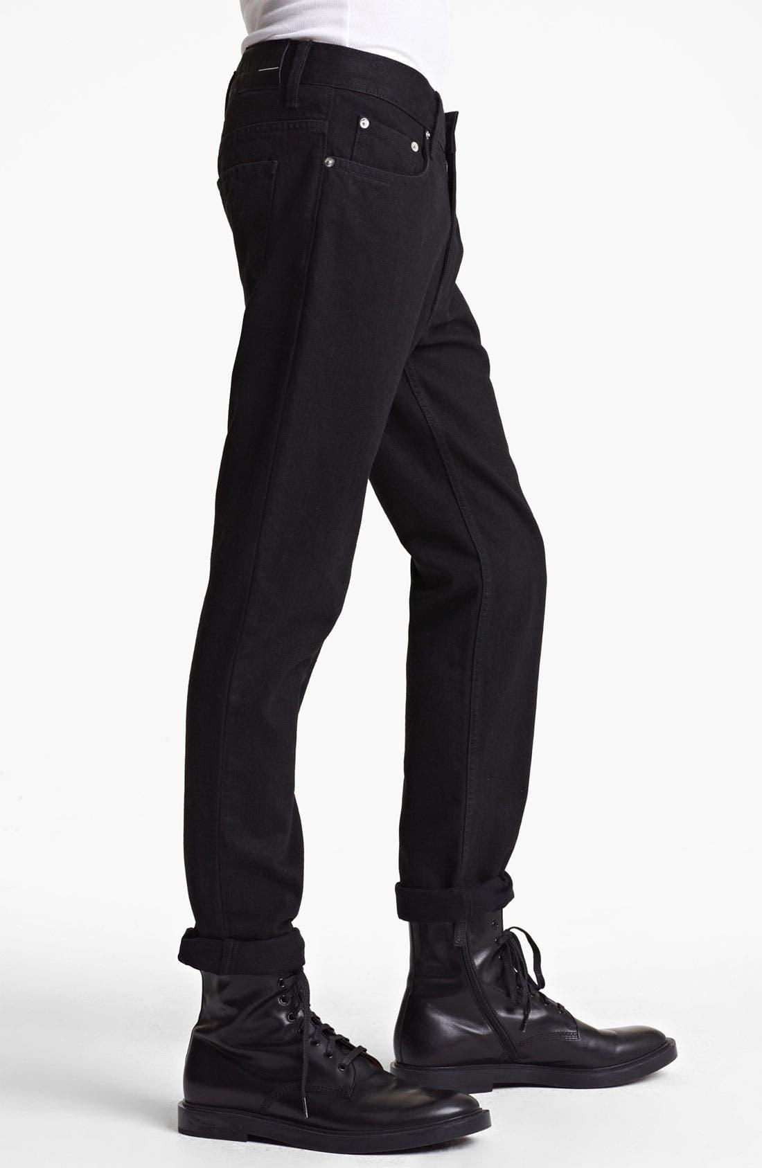 Alternate Image 3  - BLK DNM 'Jeans 5' Slim Straight Coated Denim Jeans (Jet Black)