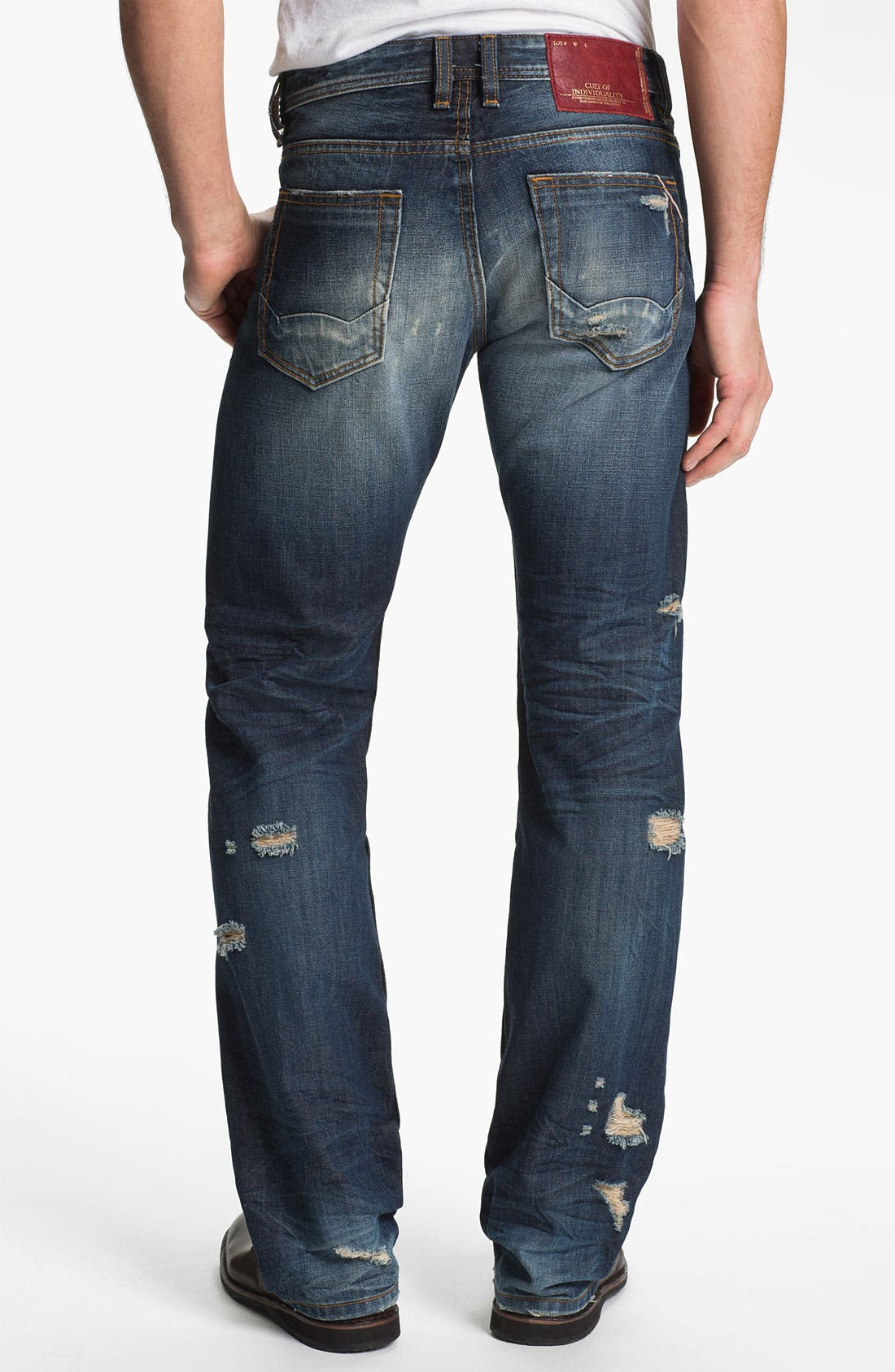 Alternate Image 2  - Cult of Individuality 'Hagen' Relaxed Straight Leg Jeans (15 Year Indigo)