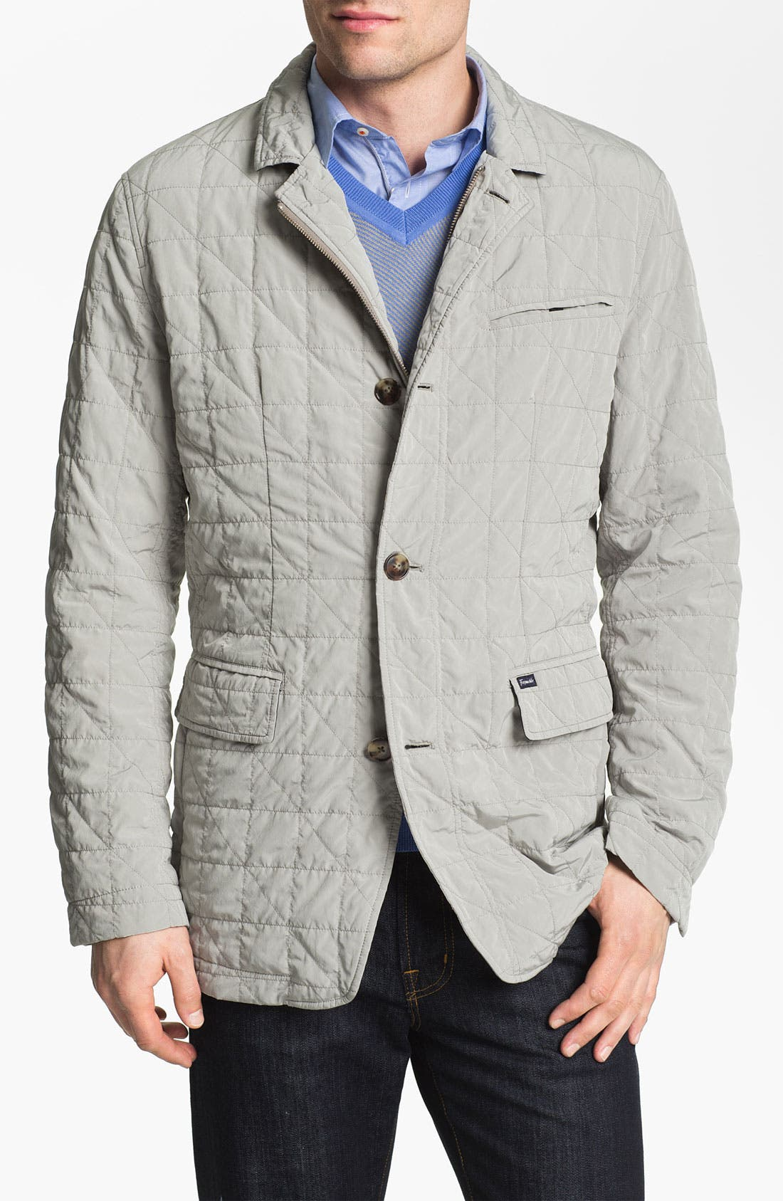 Alternate Image 1 Selected - Façonnable Microfiber Quilted Jacket