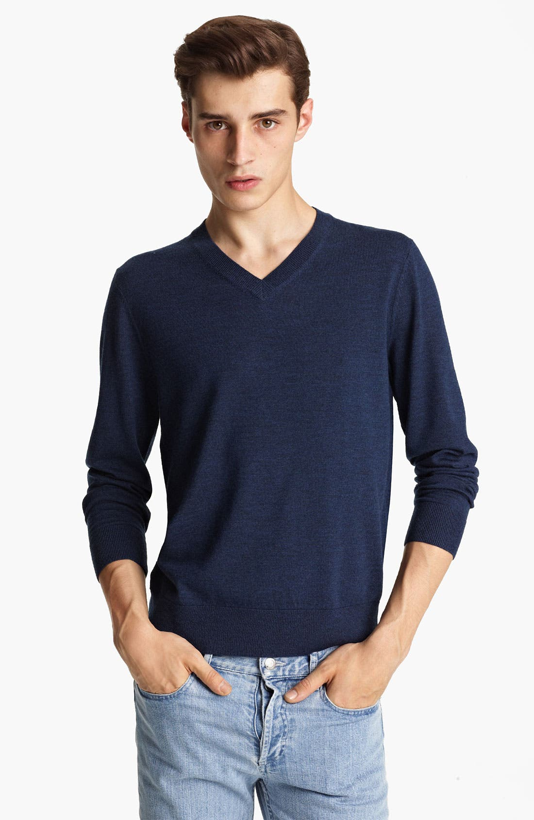 Alternate Image 1 Selected - A.P.C. V-Neck Wool Sweater