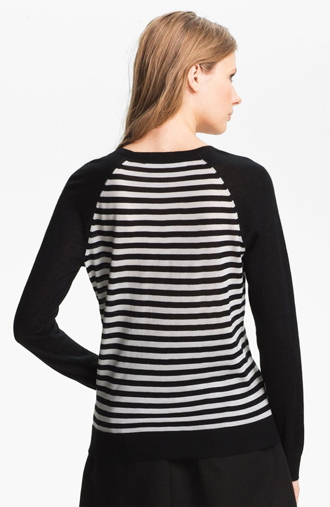 Alternate Image 3  - Miss Wu 'Sofie' Stripe Cashmere Sweater (Nordstrom Exclusive)