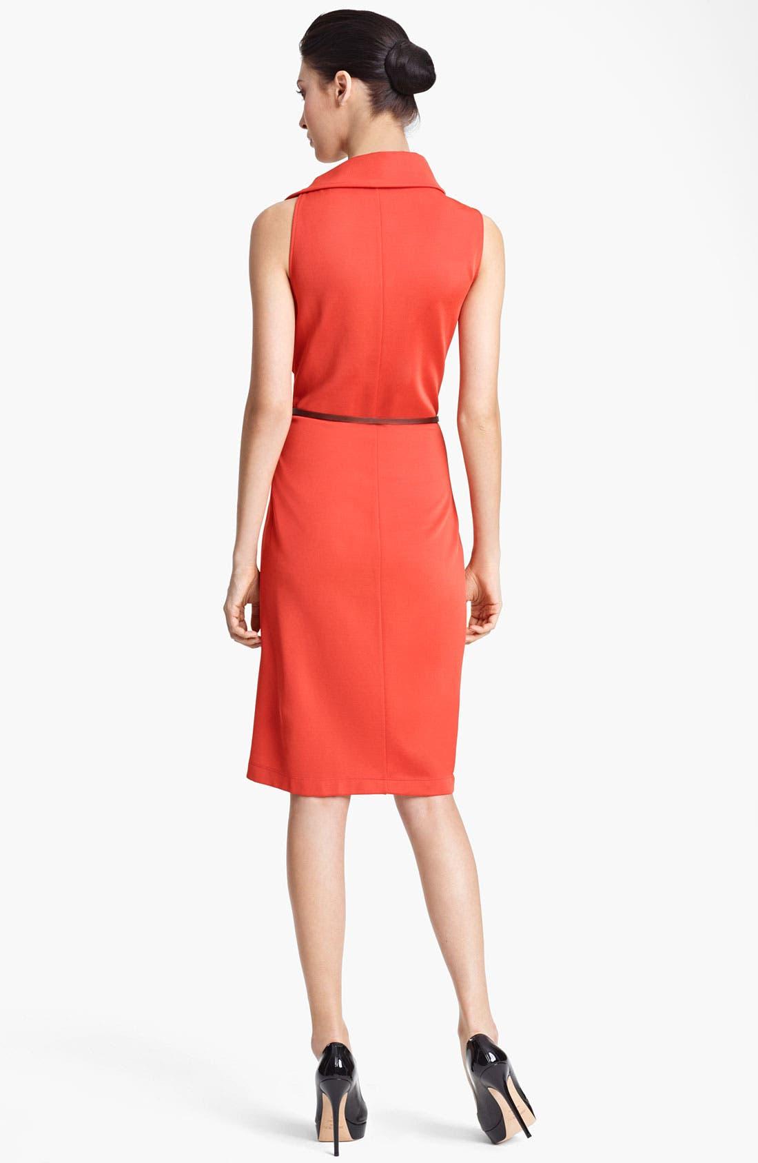 Alternate Image 2  - Max Mara Belted Side Drape Dress