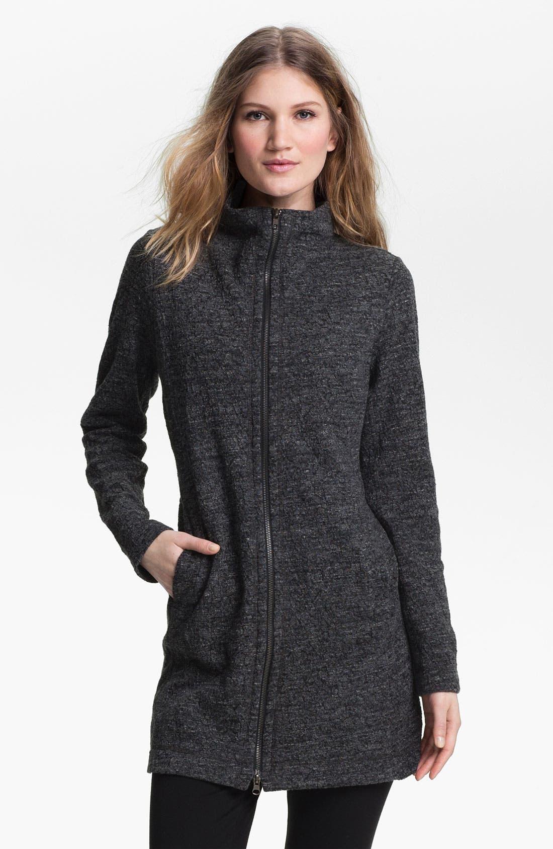 Alternate Image 1 Selected - Eileen Fisher Funnel Neck Zip Jacket (Online Exclusive)