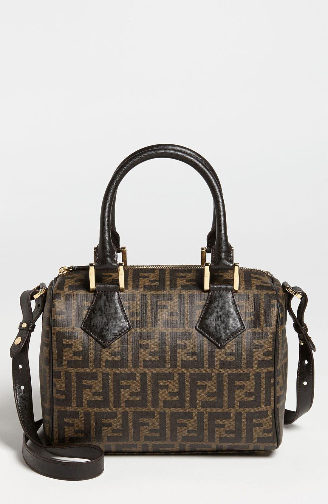 Alternate Image 1 Selected - Fendi 'Zucca - Small' Boston Bag
