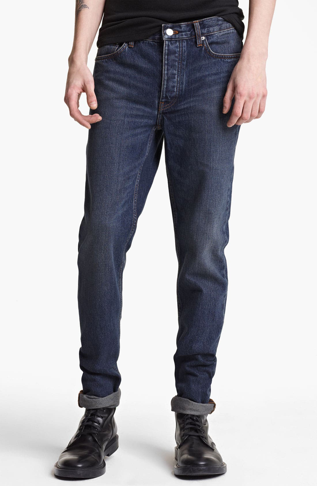 Alternate Image 1 Selected - BLK DNM 'Jeans 9' Straight Leg Jeans (Stone Blue)