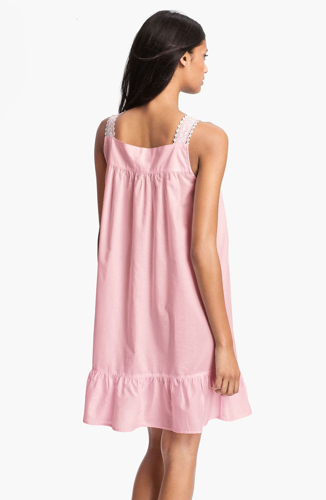 Alternate Image 2  - Eileen West 'Enchanted Forest' Short Sleeveless Nightgown