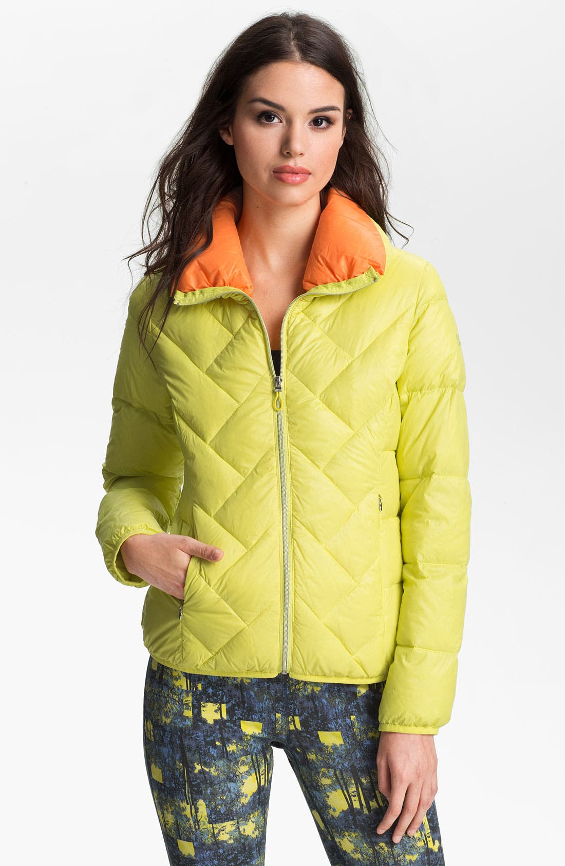 Alternate Image 1 Selected - GUESS Two Tone Down Jacket (Online Exclusive)