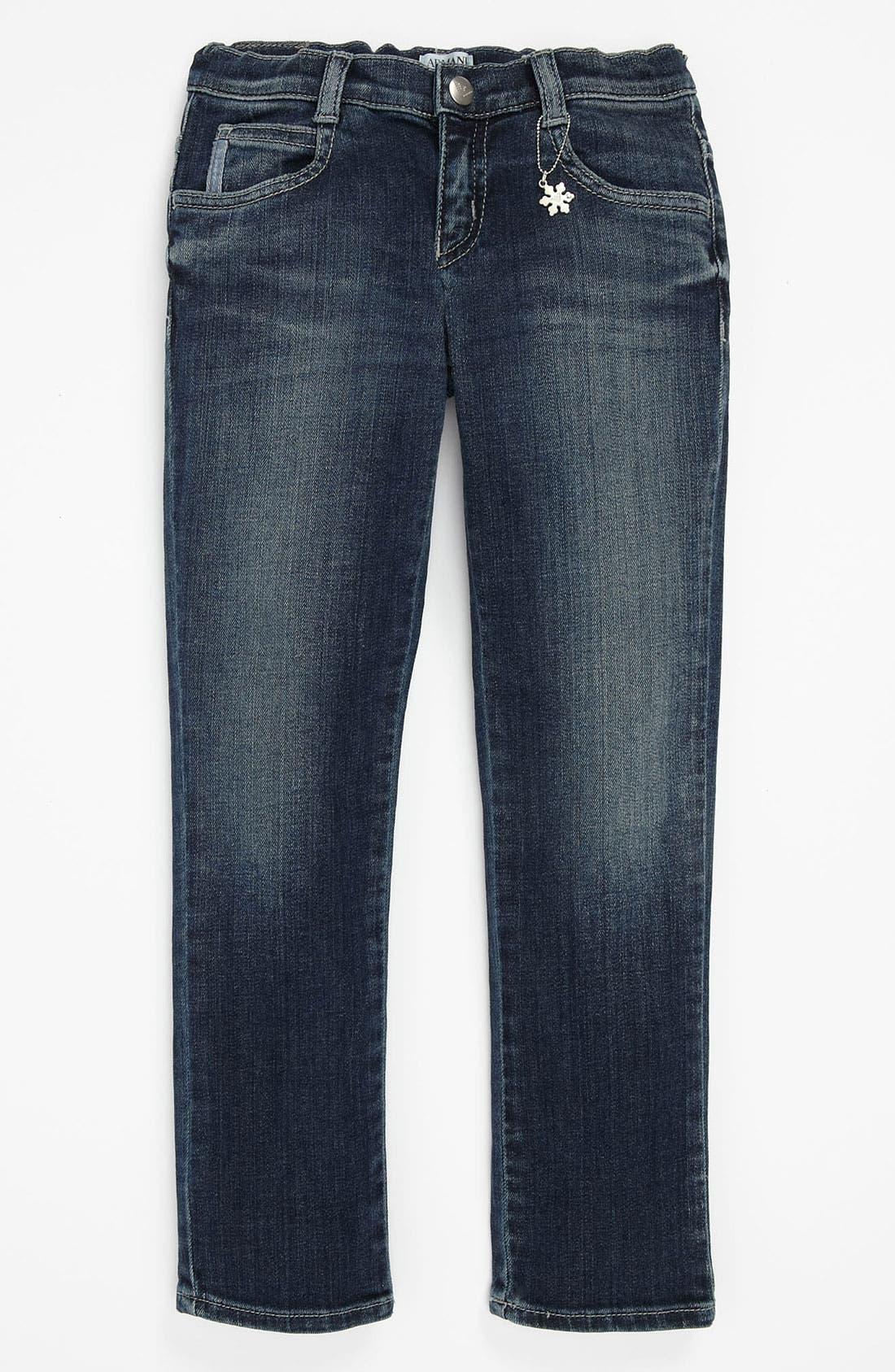 Alternate Image 2  - Armani Junior Super Slim Jeans (Toddler & Little Girls)