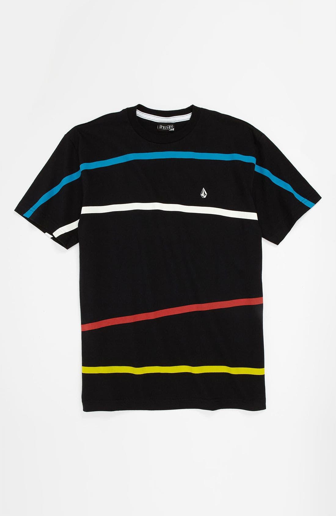 Alternate Image 1 Selected - Volcom 'Think' Stripe T-Shirt (Big Boys)