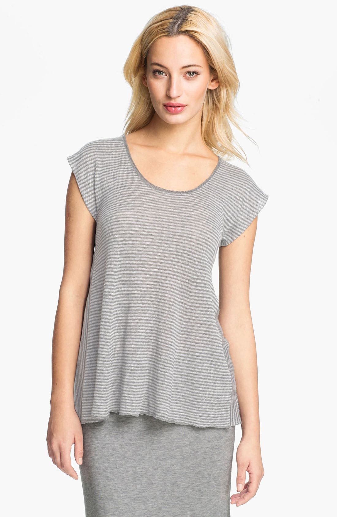 Alternate Image 1 Selected - Eileen Fisher Stripe Delave Linen Top