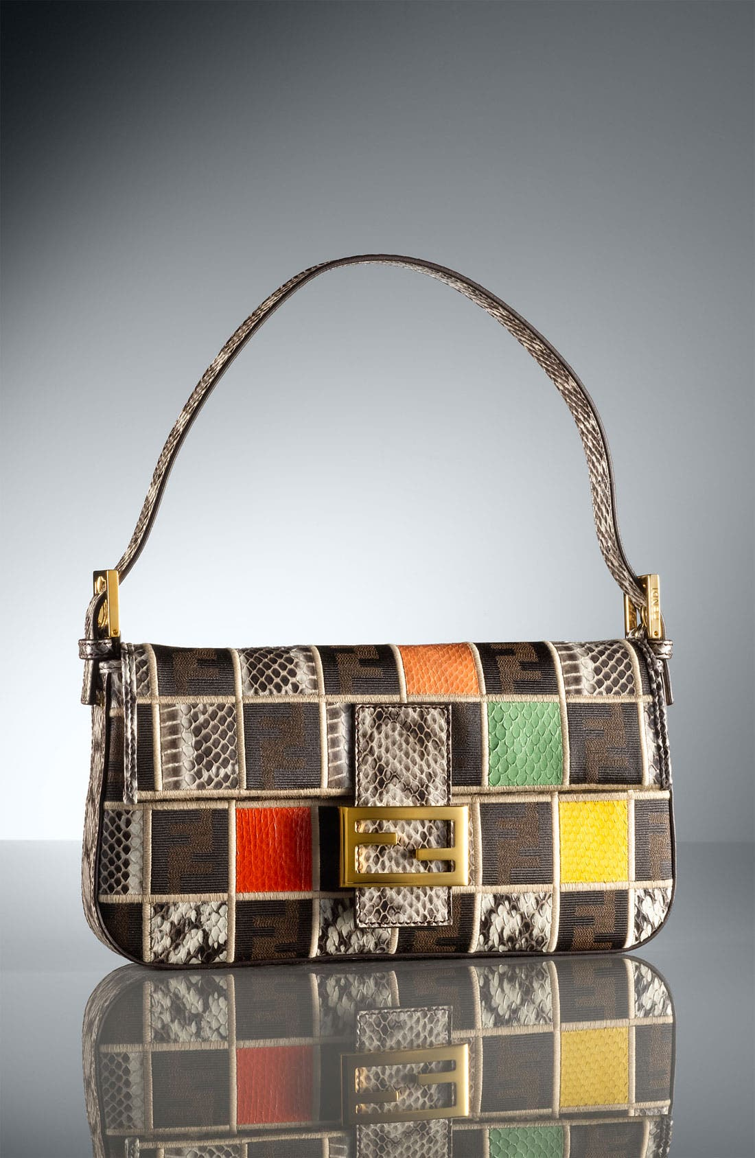 Alternate Image 5  - Fendi Genuine Ayers Snakeskin Patchwork Baguette