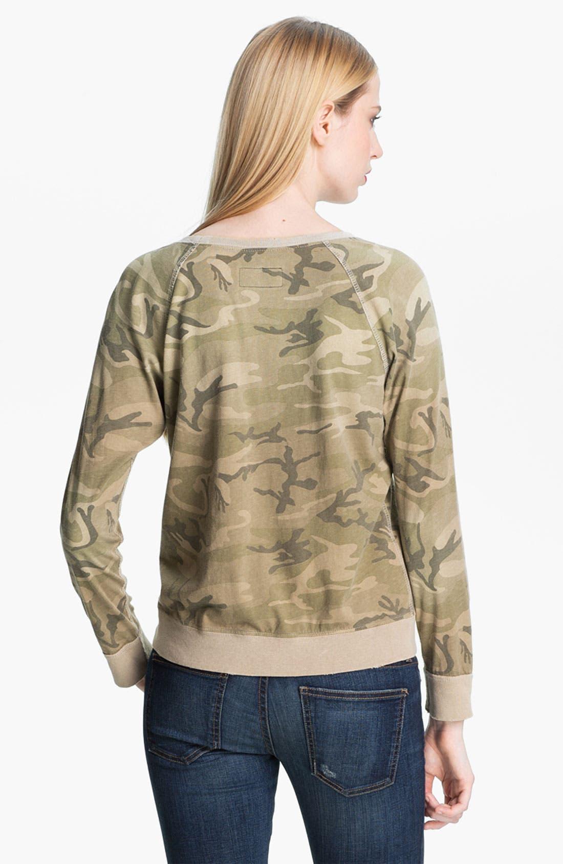 Alternate Image 3  - Current/Elliott 'Letterman' Camo Print Sweatshirt