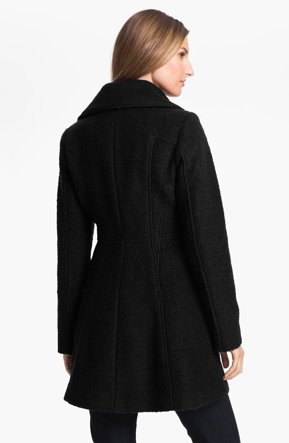 Alternate Image 2  - GUESS Bouclé Walking Coat (Petite) (Online Exclusive)