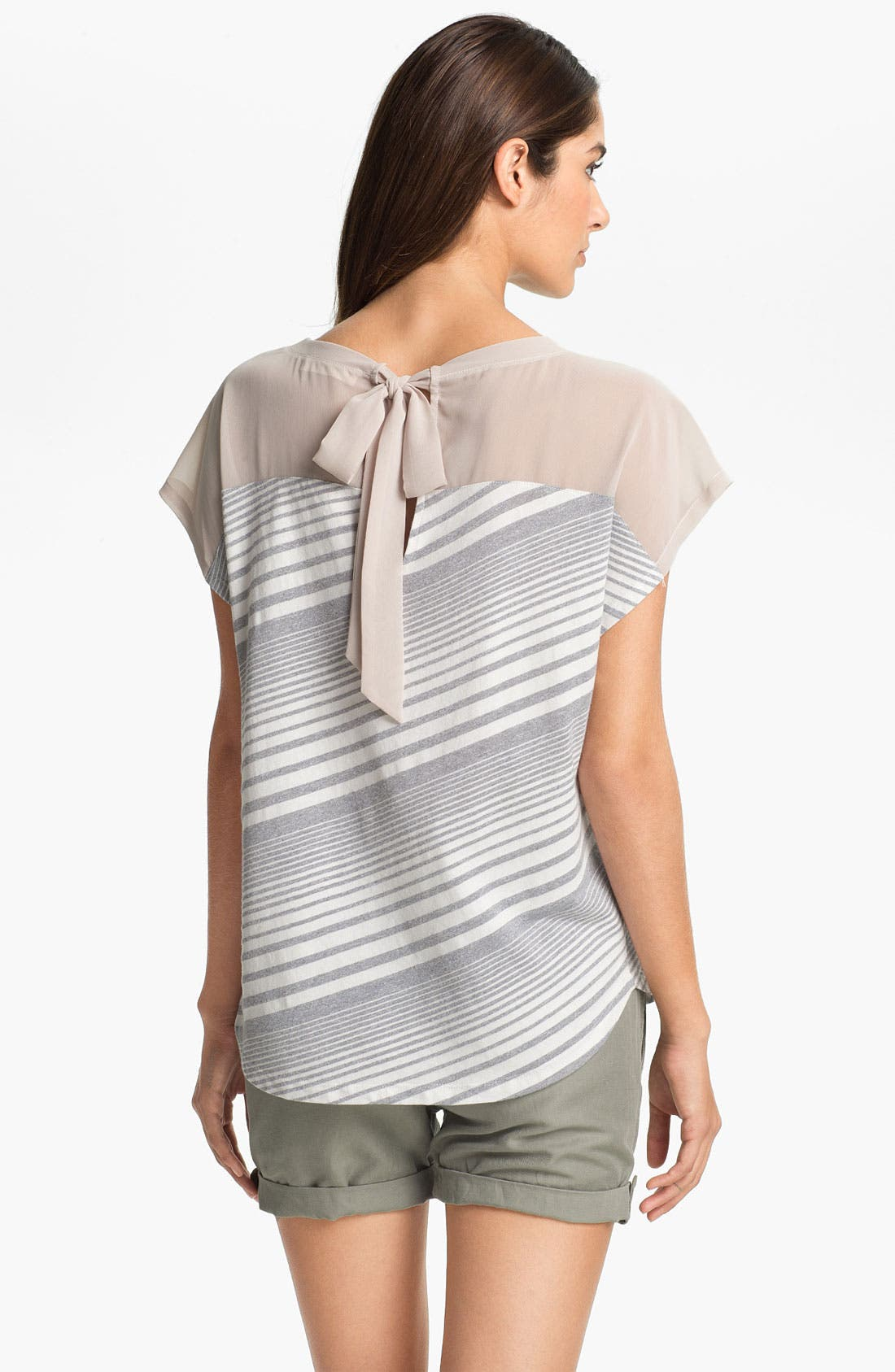 Alternate Image 2  - Two by Vince Camuto Tie Back Tee