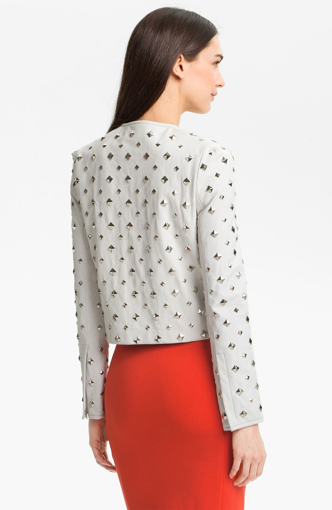 Alternate Image 2  - Diane von Furstenberg 'Kate' Studded Leather Jacket