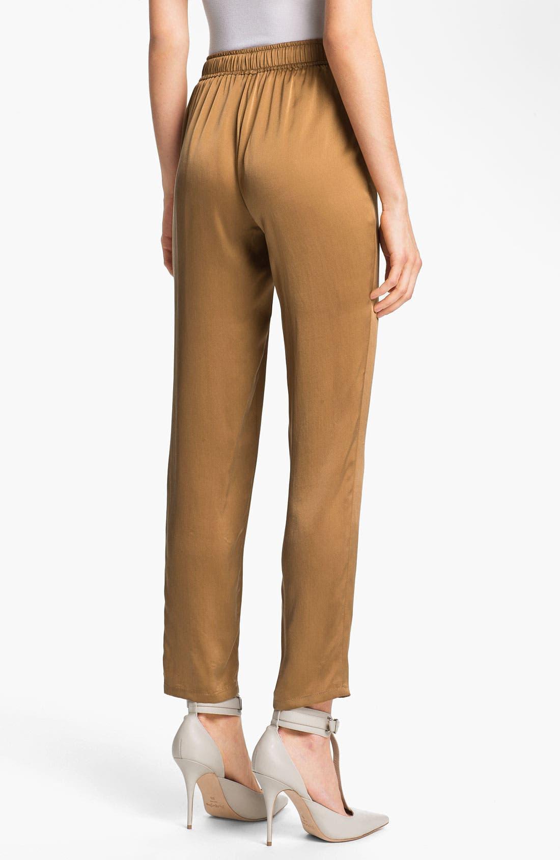 Alternate Image 2  - Elizabeth and James 'Gessler' Drawstring Silk Pants