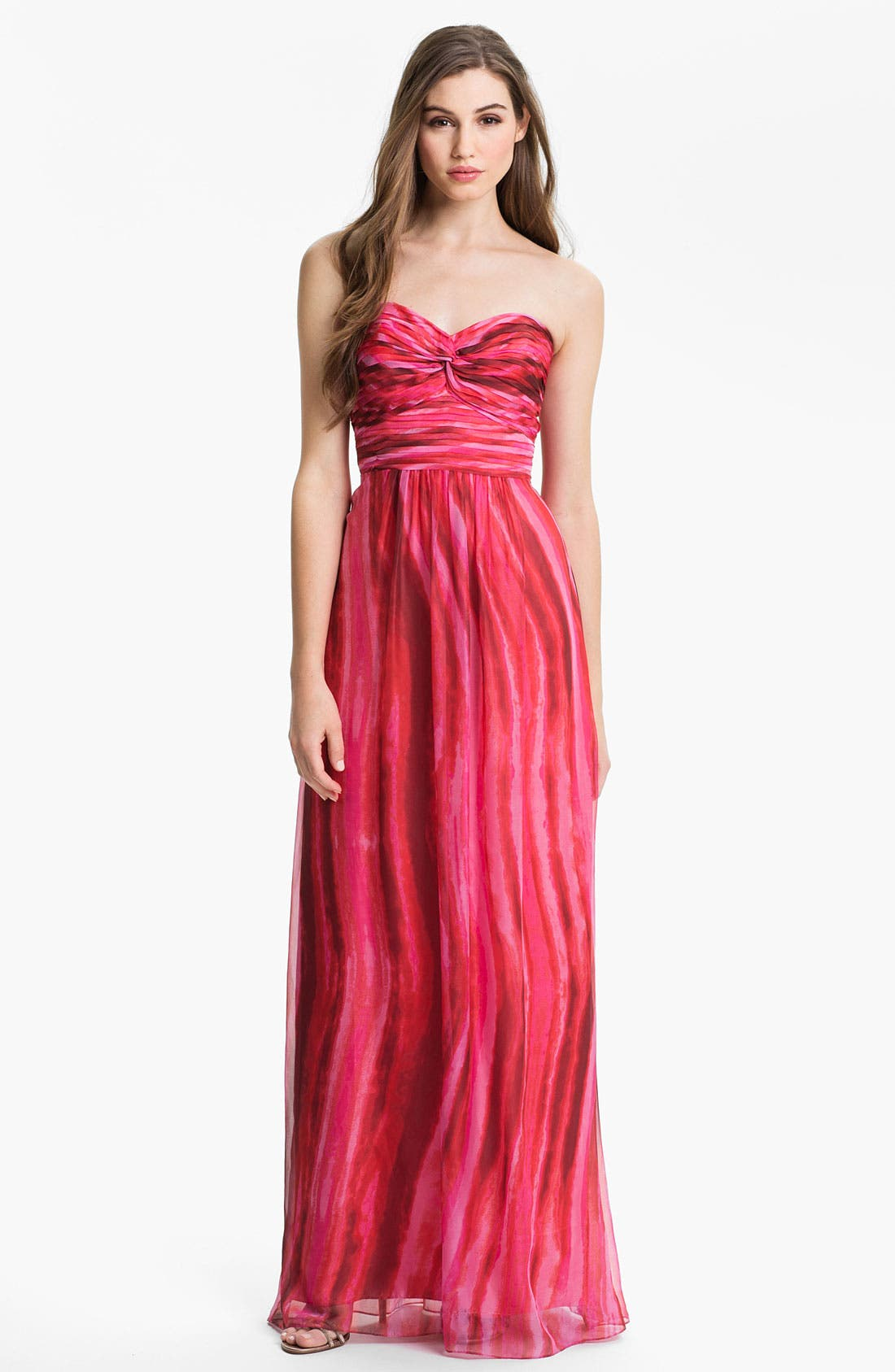 Alternate Image 1 Selected - Laundry by Shelli Segal Strapless Twist Front Chiffon Gown