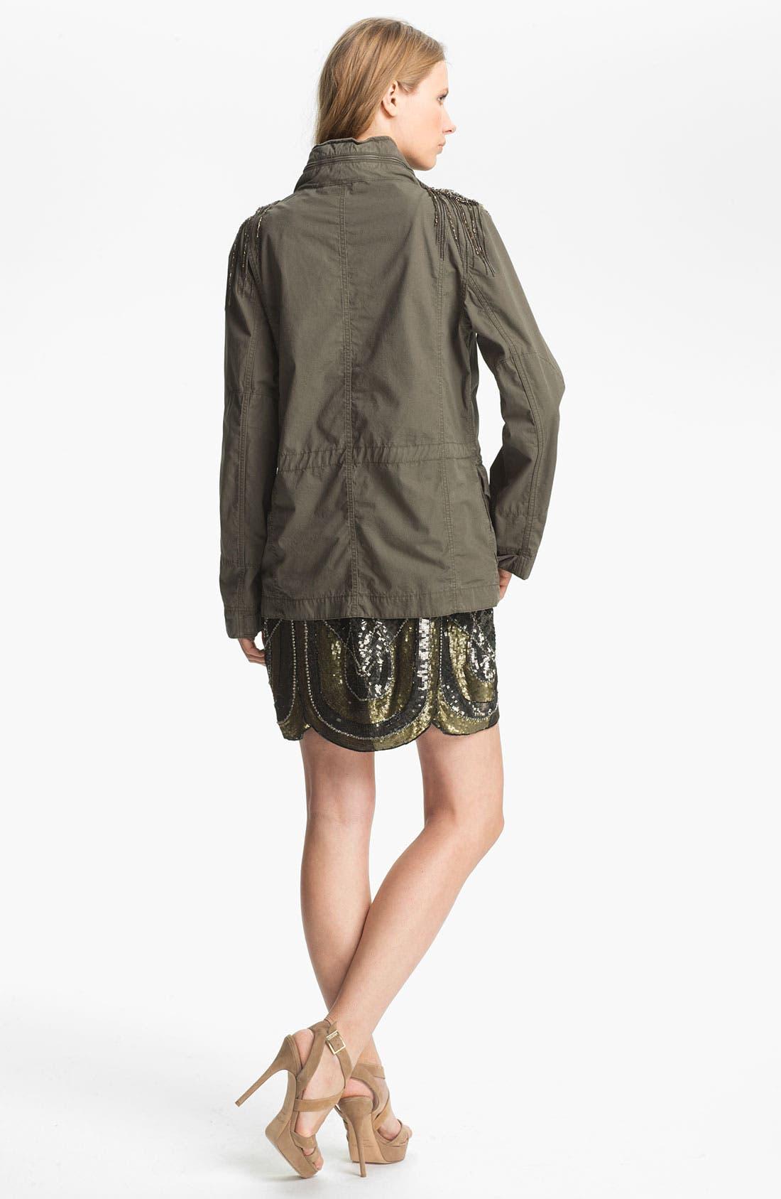 Alternate Image 4  - Haute Hippie Sequin Shoulder Military Jacket