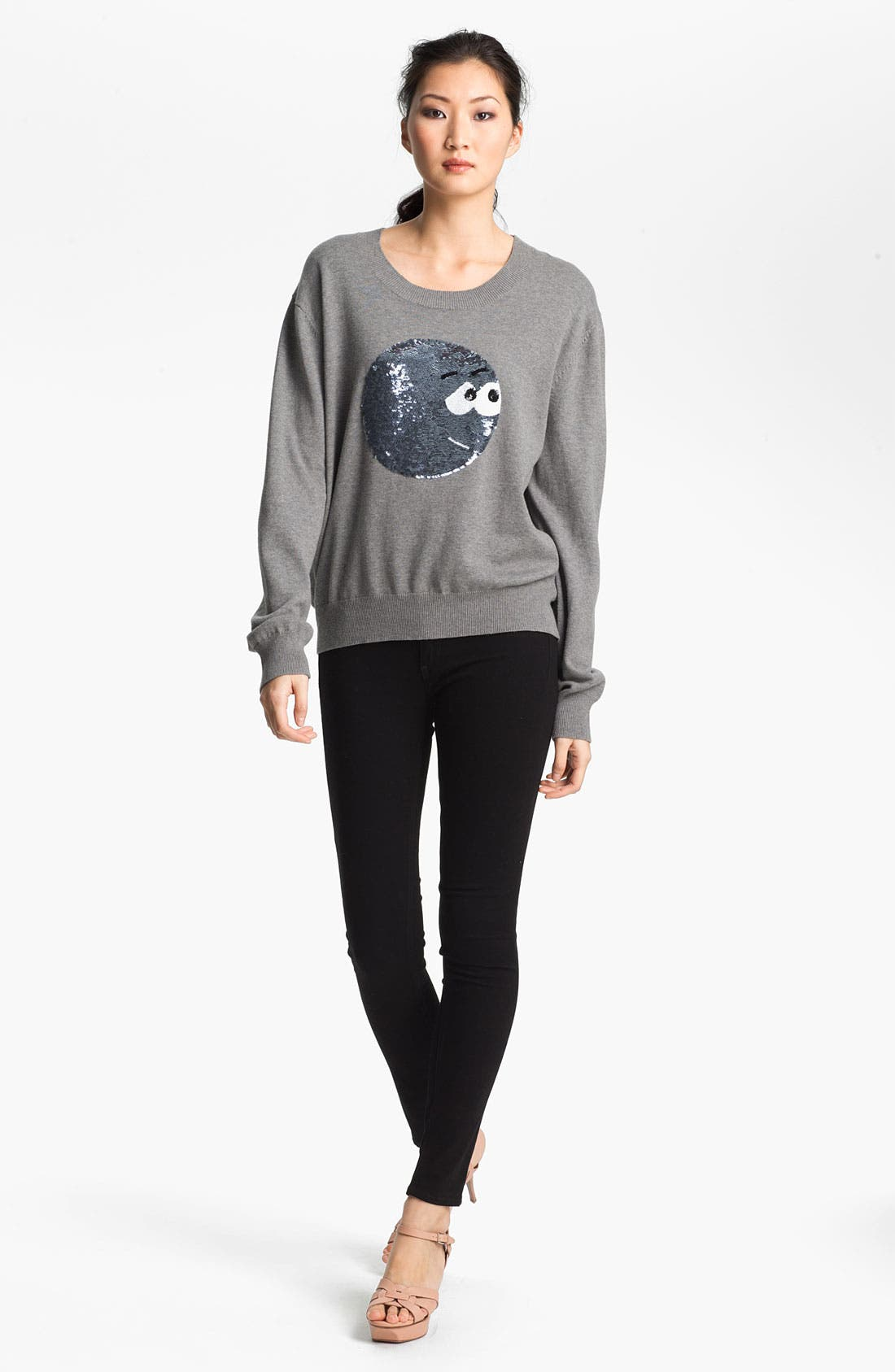 Alternate Image 1 Selected - Markus Lupfer Sequin Cartoon Face Sweater