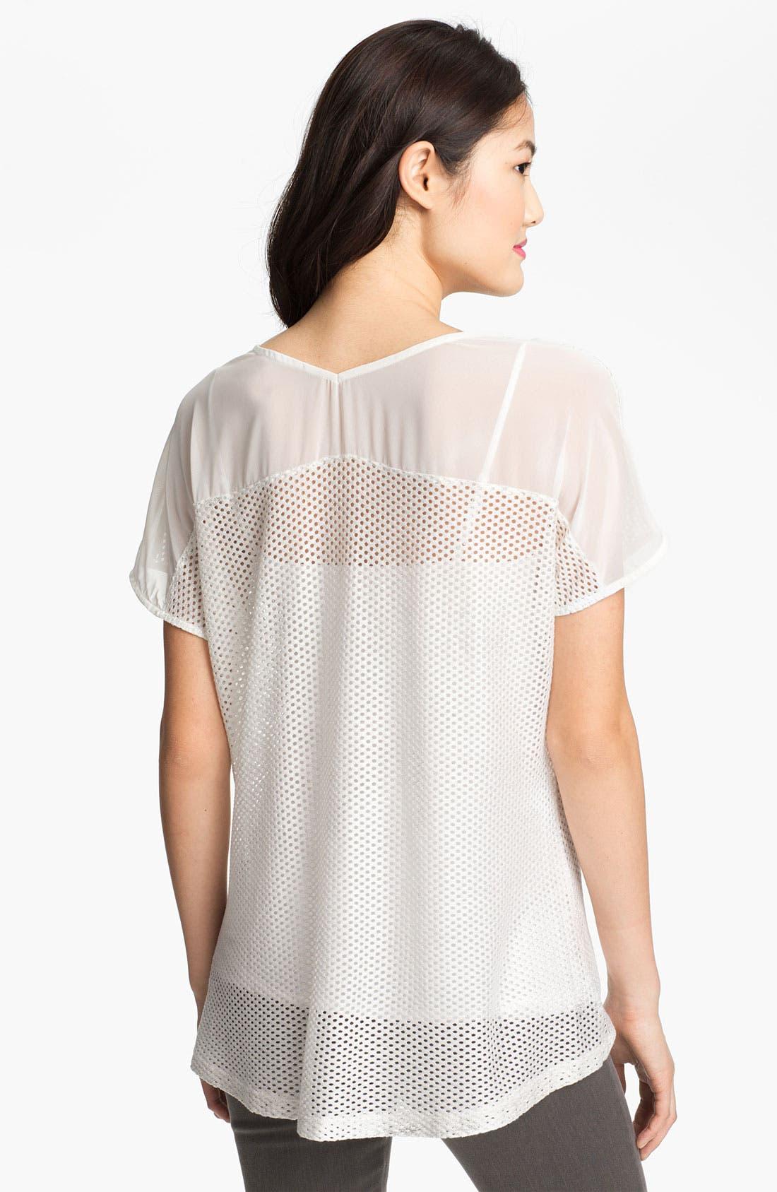 Alternate Image 2  - Pleione Perforated Shirttail Hem Top