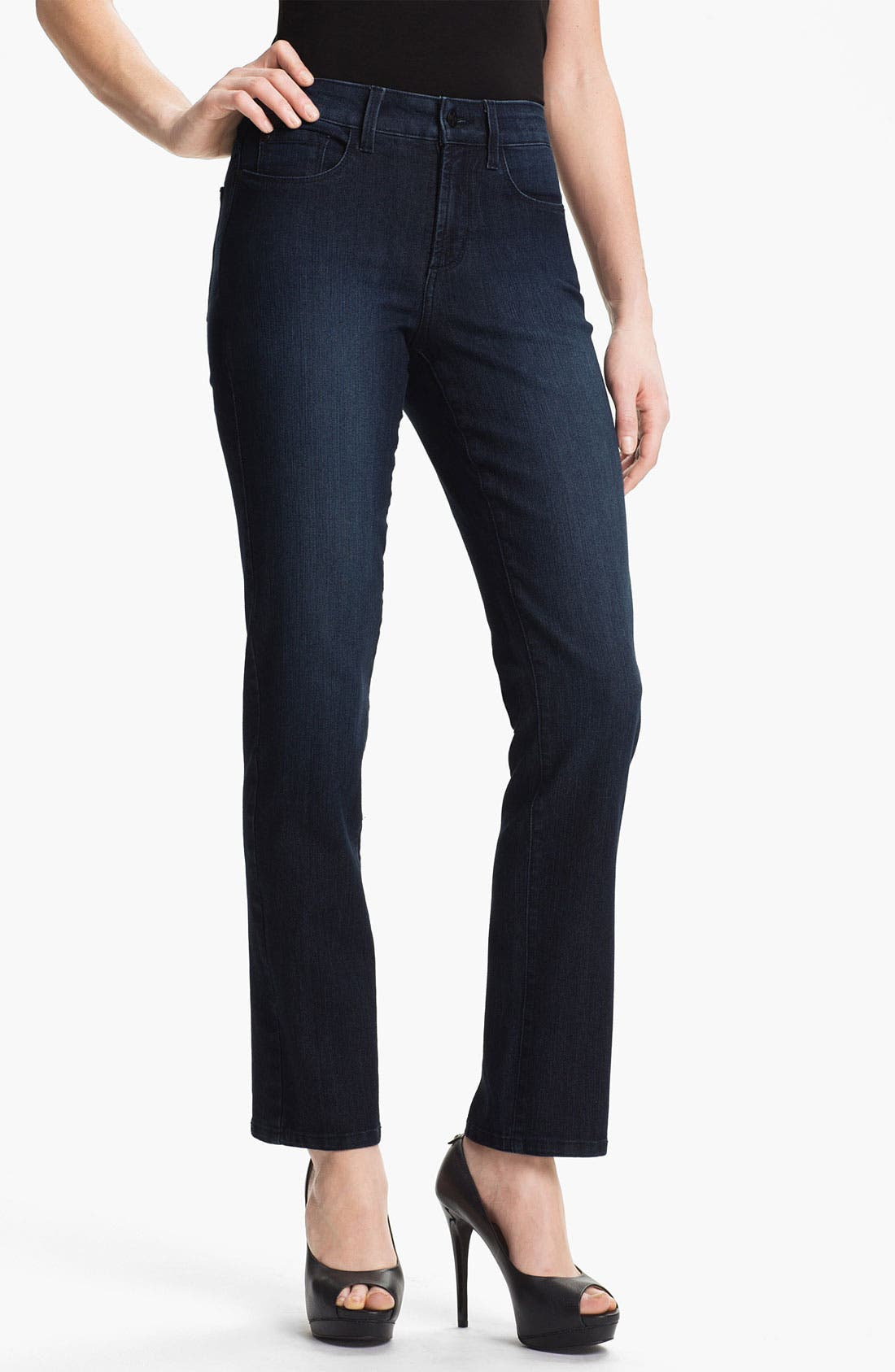 Alternate Image 1 Selected - NYDJ Studded 'Sheri' Skinny Jeans (Petite)