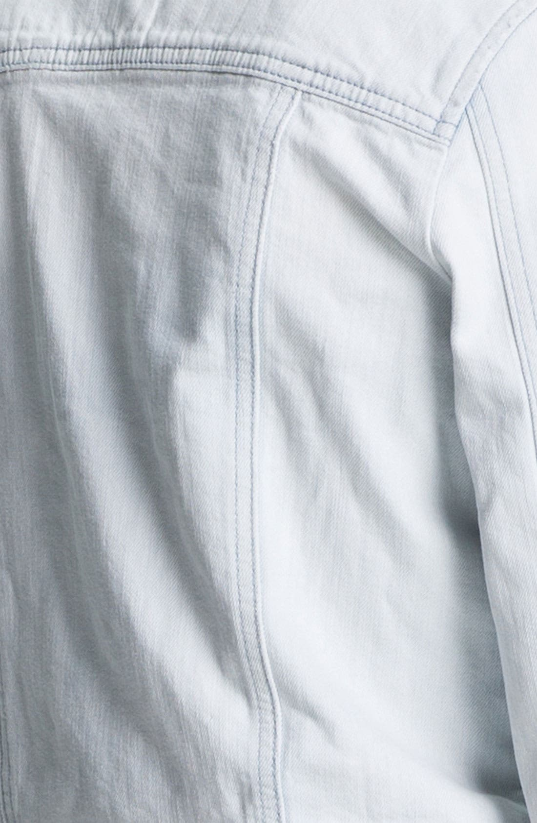 Alternate Image 4  - Rubbish® Vintage Denim Jacket (Juniors)