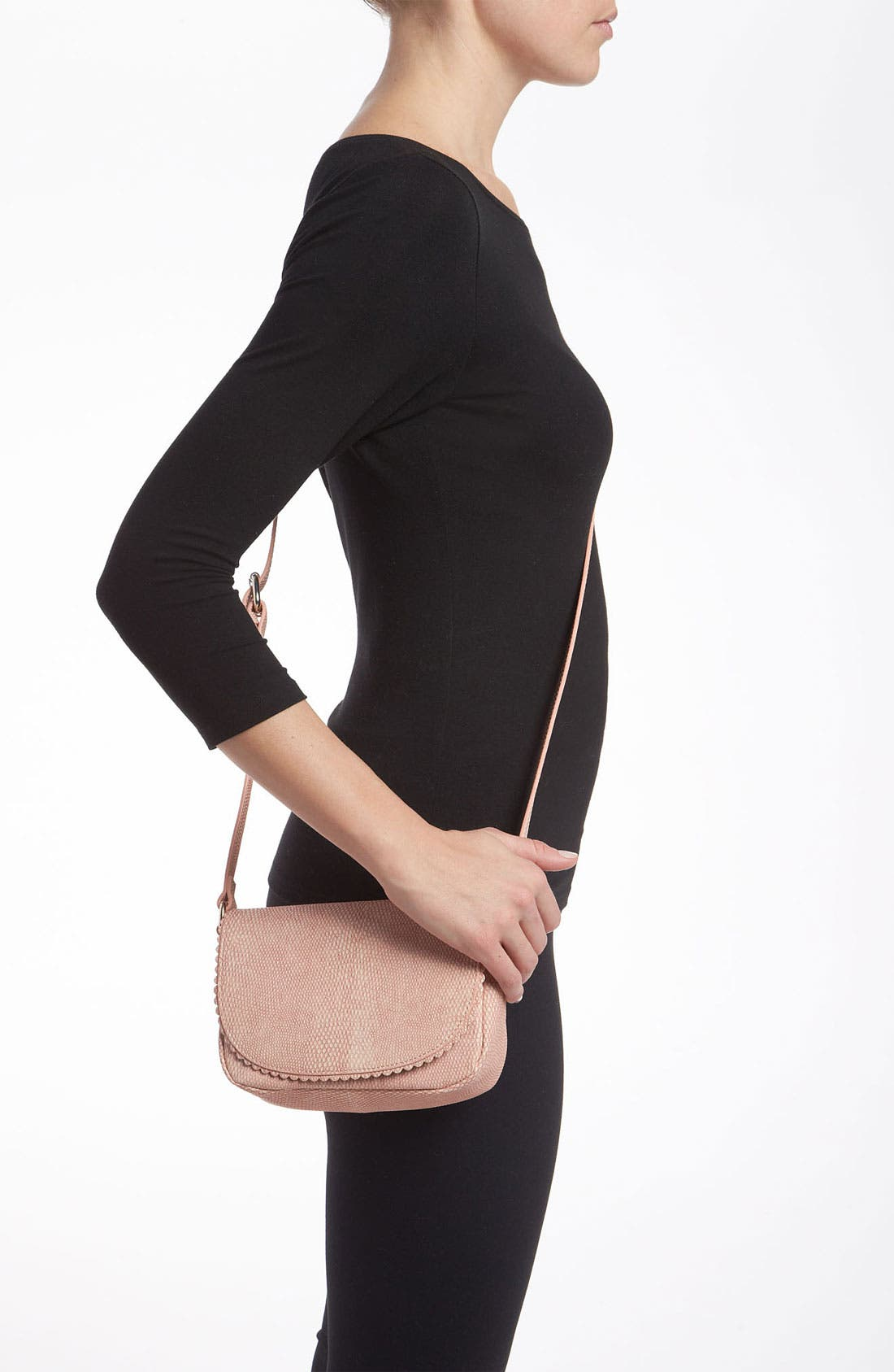 Alternate Image 2  - Halogen® 'Layla' Lizard Embossed Crossbody Bag