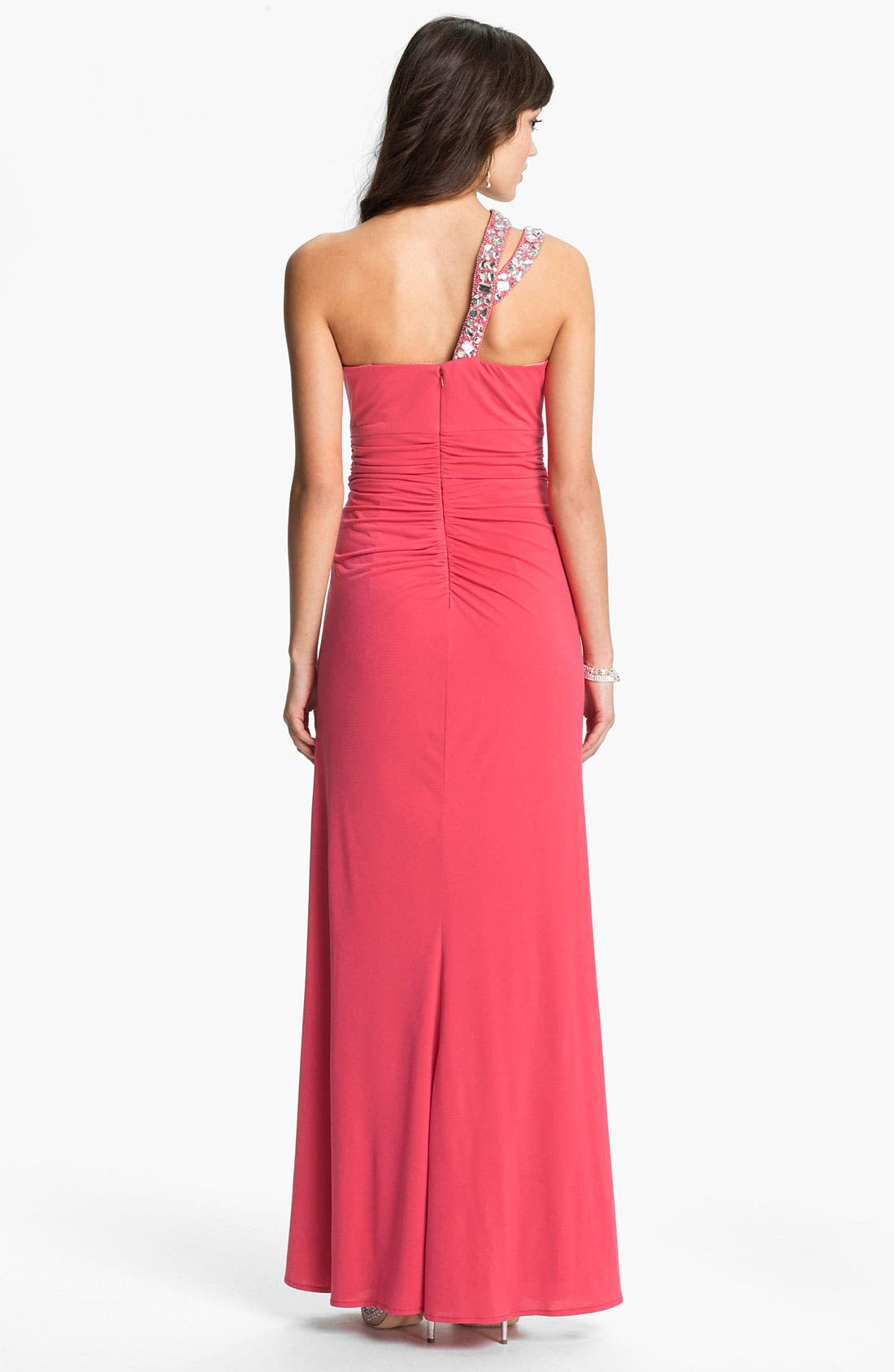 Alternate Image 2  - Hailey by Adrianna Papell Embellished One Shoulder Gown (Online Exclusive)