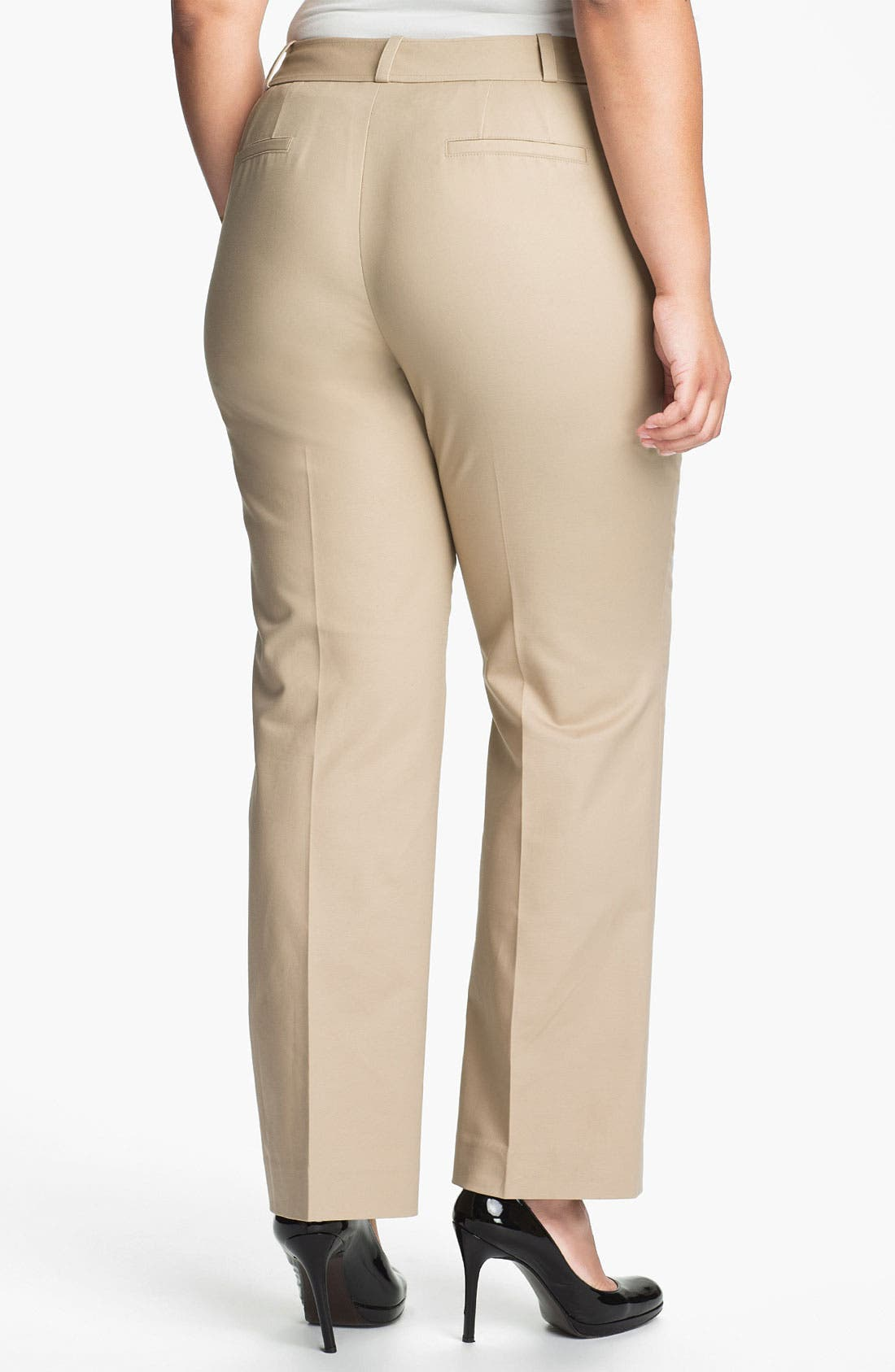 Alternate Image 2  - Sejour Stretch Cotton Pants (Plus Size)