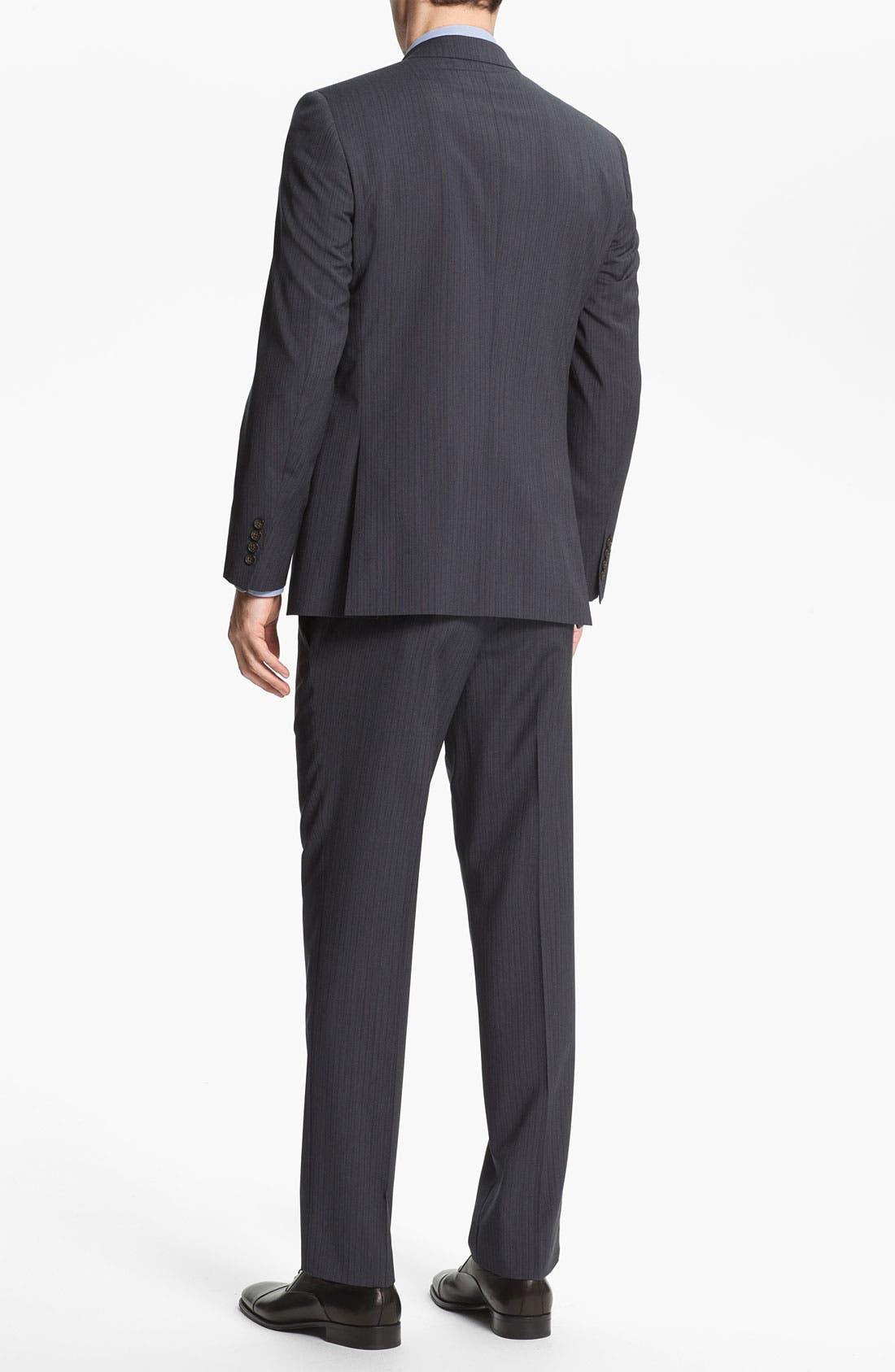 Alternate Image 3  - Ted Baker London Trim Fit Stripe Suit