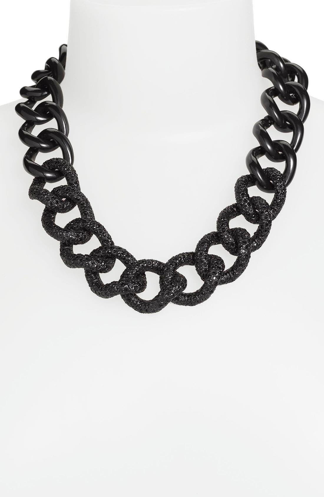 Main Image - St. John Collection 'Black Clad' Pavé Chain Necklace