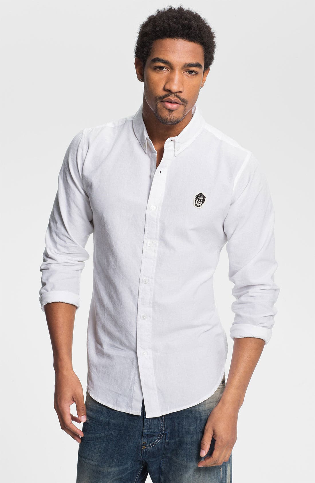 Alternate Image 1 Selected - Obey Pirate Patch Woven Shirt