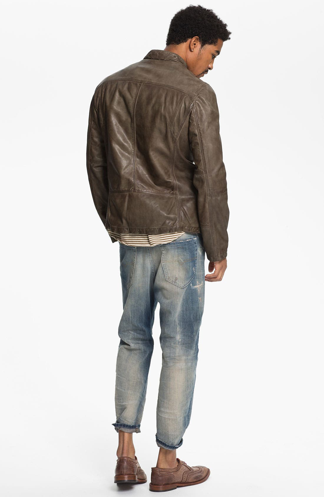 Alternate Image 6  - DIESEL® 'Narrot' Cropped Slouchy Tapered Leg Jeans (0811A)
