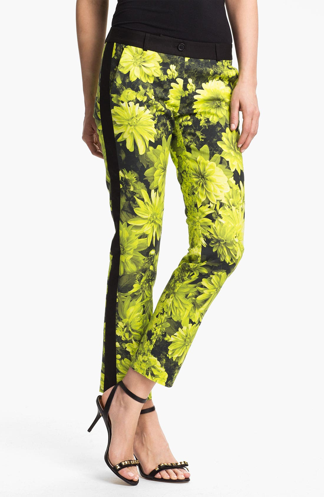 Main Image - MICHAEL Michael Kors 'English Garden' Skinny Ankle Pants