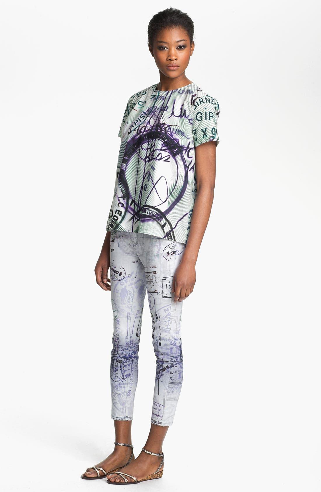 Alternate Image 4  - Mary Katrantzou Current/Elliott 'The Printed Stiletto' Jeans