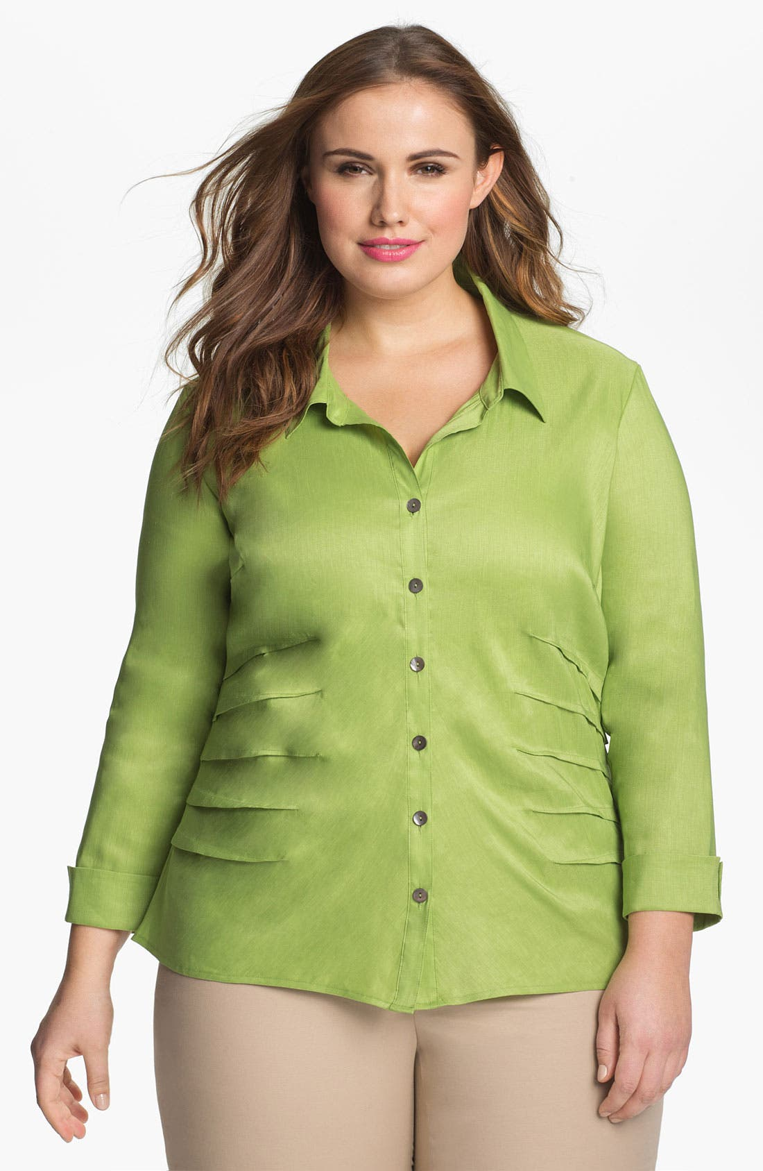 Alternate Image 1 Selected - Nic + Zoe Button Up Shirt (Plus Size)