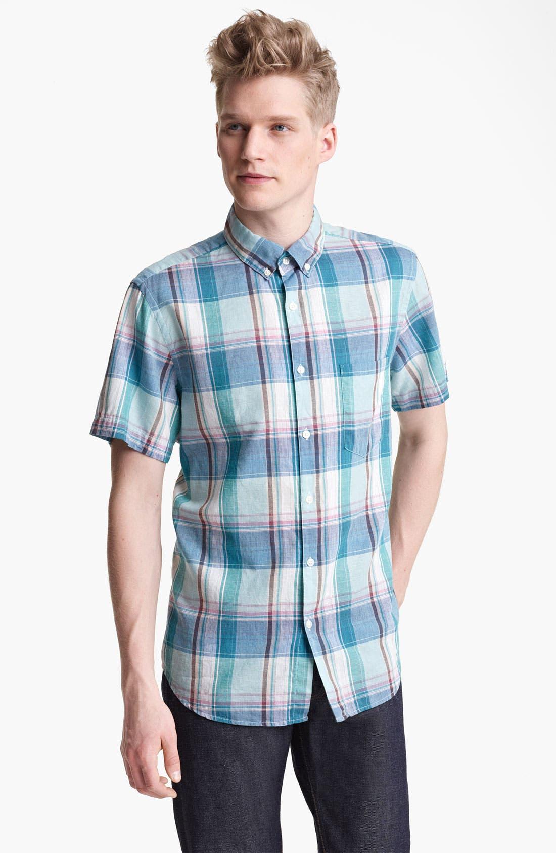 Alternate Image 1 Selected - Steven Alan Plaid Pattern Shirt