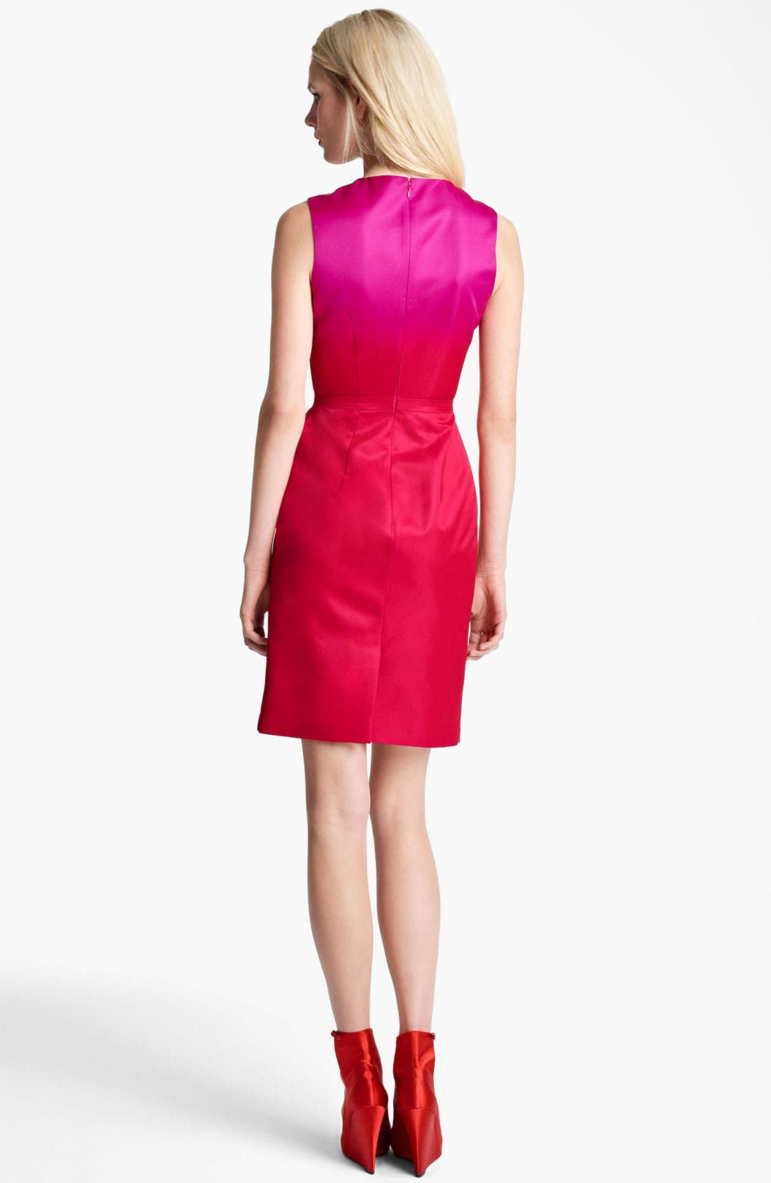 Alternate Image 2  - Burberry Prorsum Satin Sheath Dress