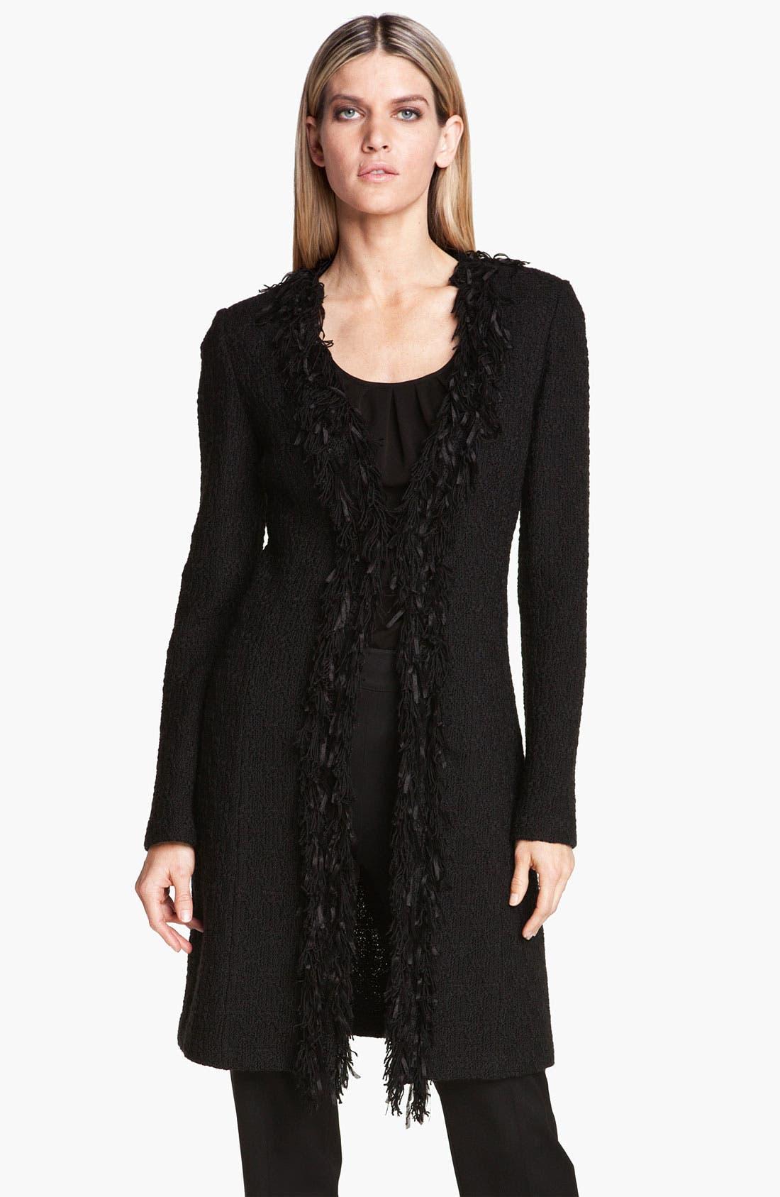 Main Image - St. John Collection Fringe Trim Tweed Jacket