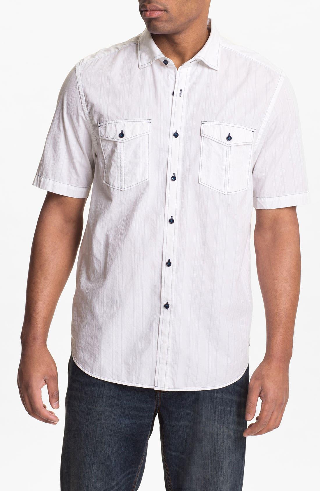 Alternate Image 1 Selected - Tommy Bahama Denim 'Dobby Blanco' Sport Shirt
