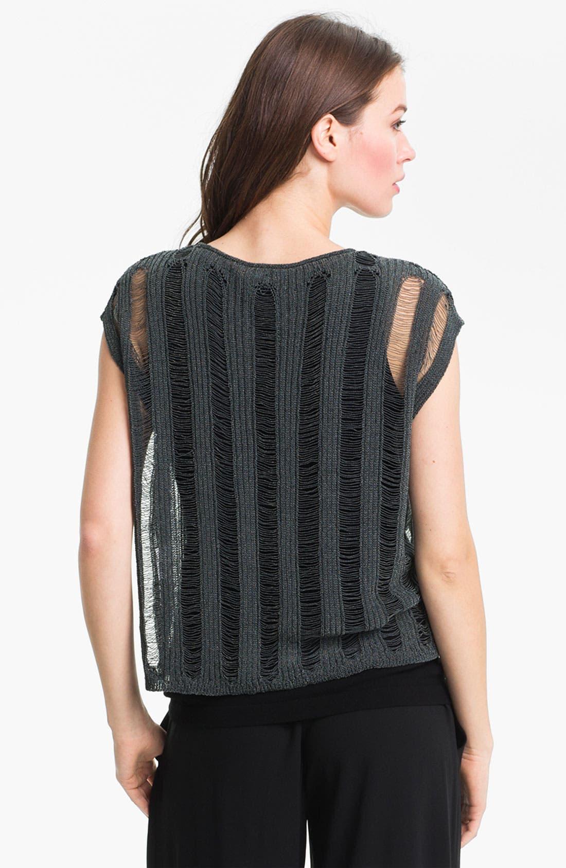 Alternate Image 2  - Eileen Fisher Shredded Scoop Neck Sweater (Online Only)