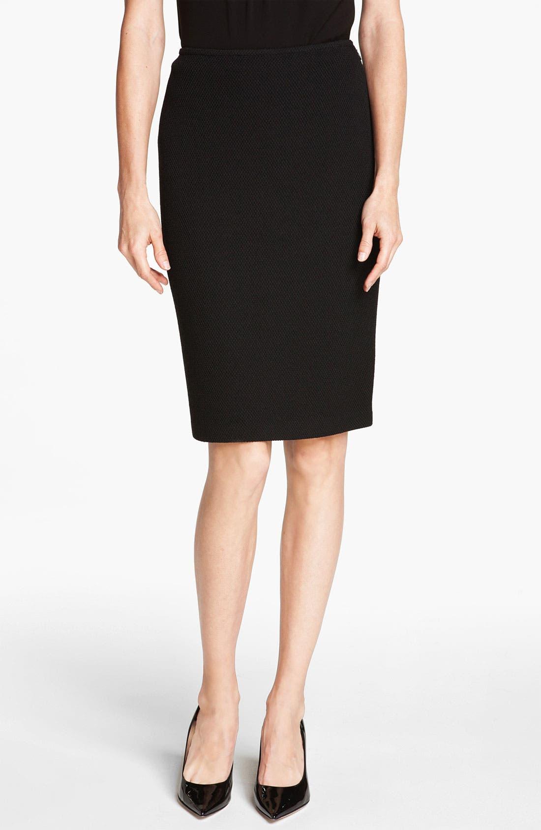 Main Image - St. John Collection Mod Piqué Pencil Skirt