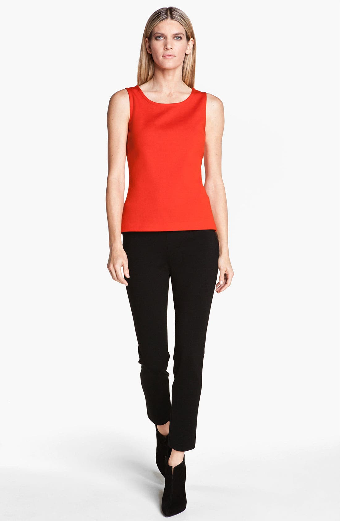 Alternate Image 2  - St. John Collection Scoop Neck Milano Knit Shell