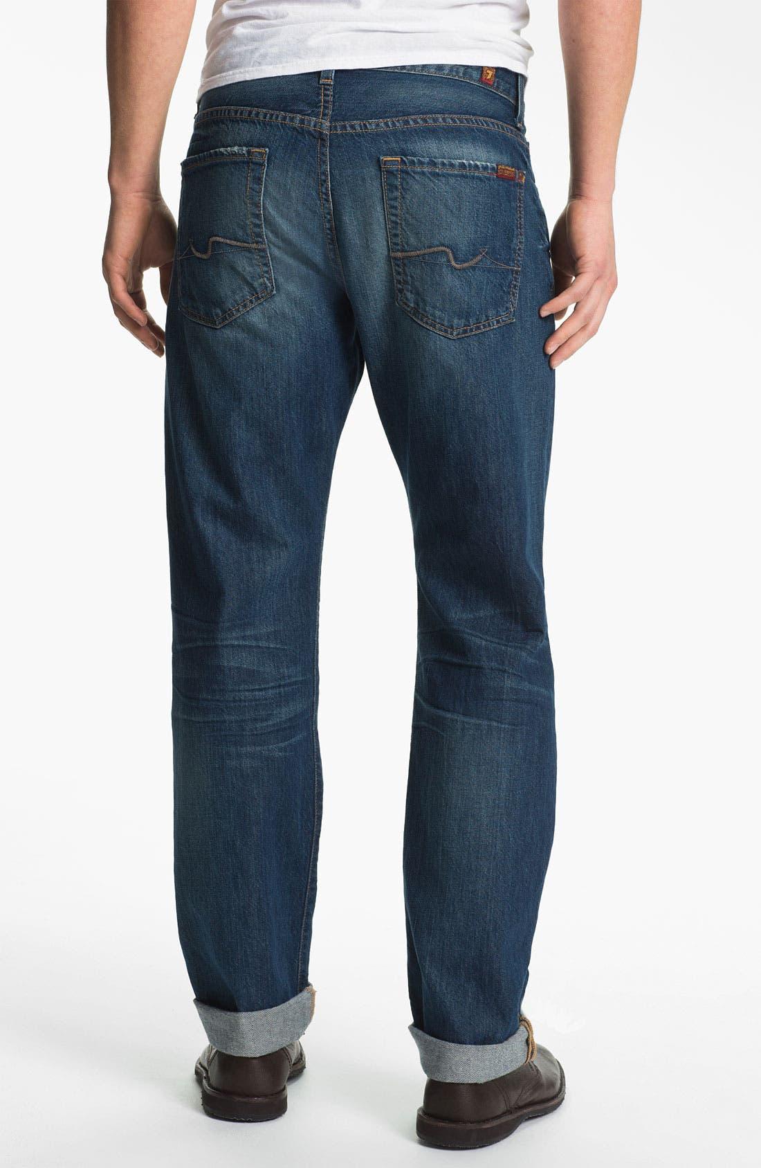Alternate Image 1 Selected - 7 For All Mankind® 'Carsen' Straight Leg Jeans (Juniper Bay)