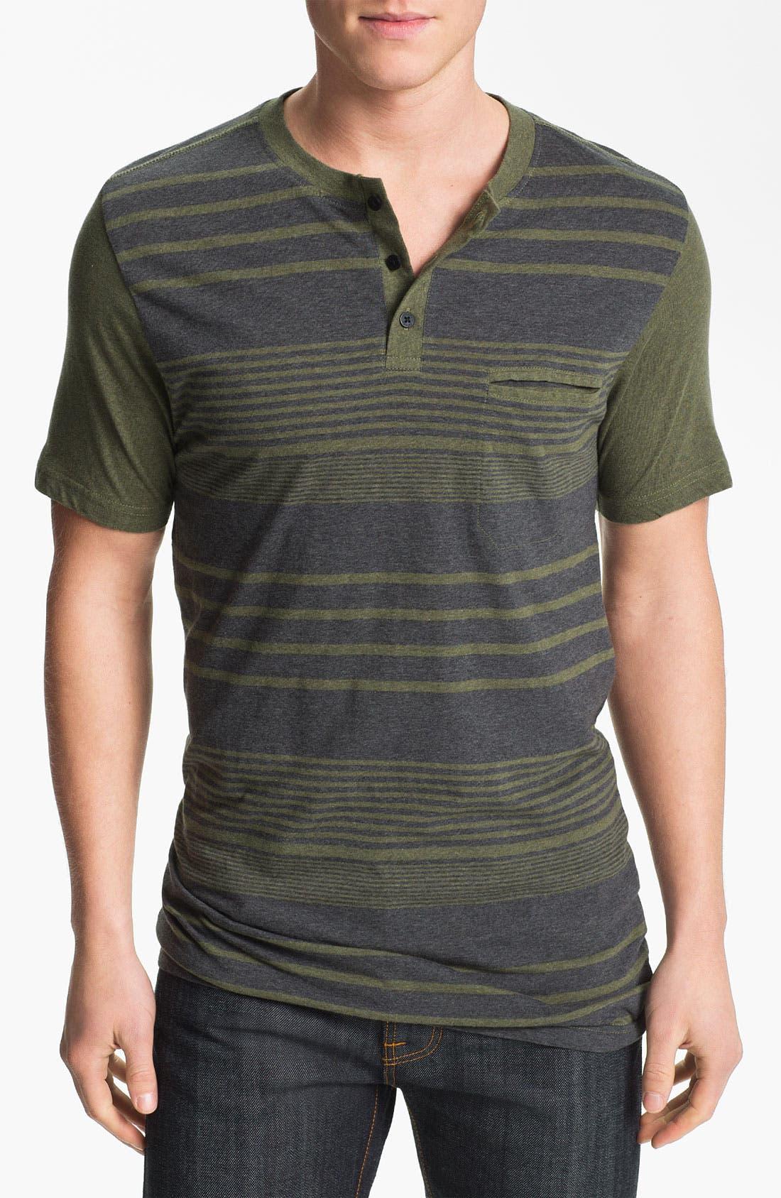 Alternate Image 1 Selected - Ezekiel 'Beachside' Stripe Henley T-Shirt
