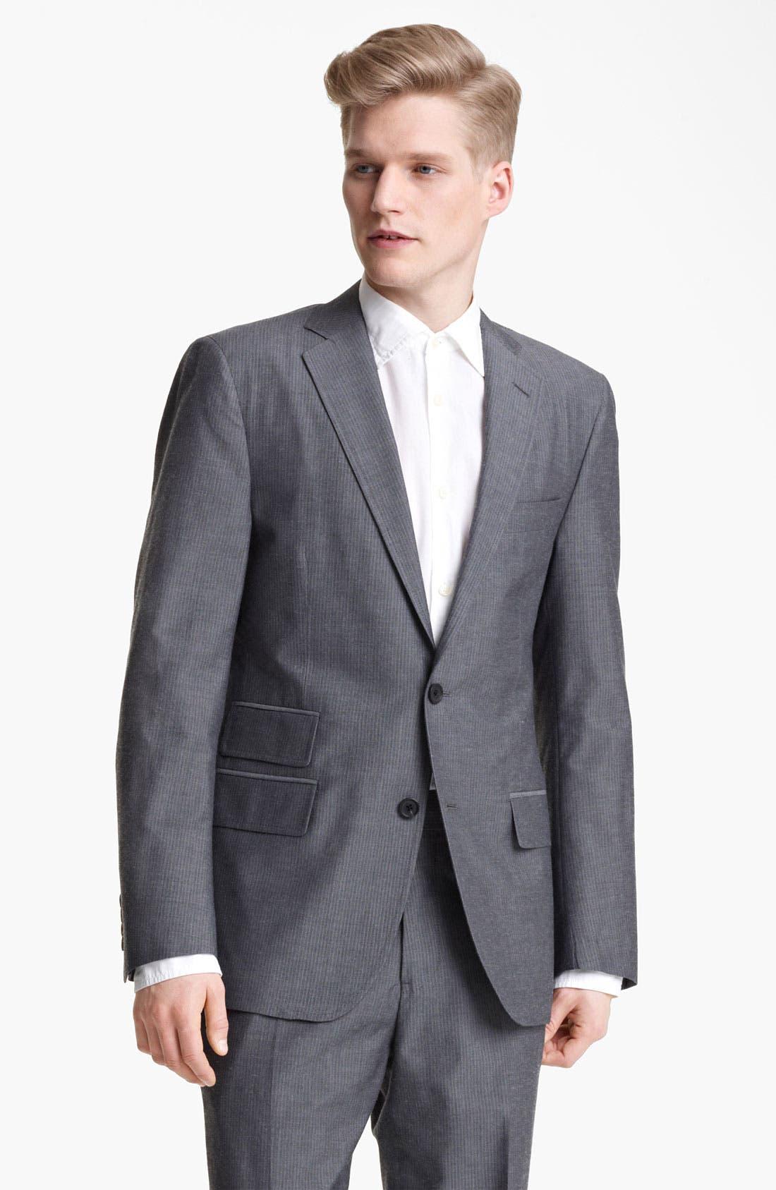Alternate Image 1 Selected - Billy Reid 'Campbell' Grey Stripe Suit