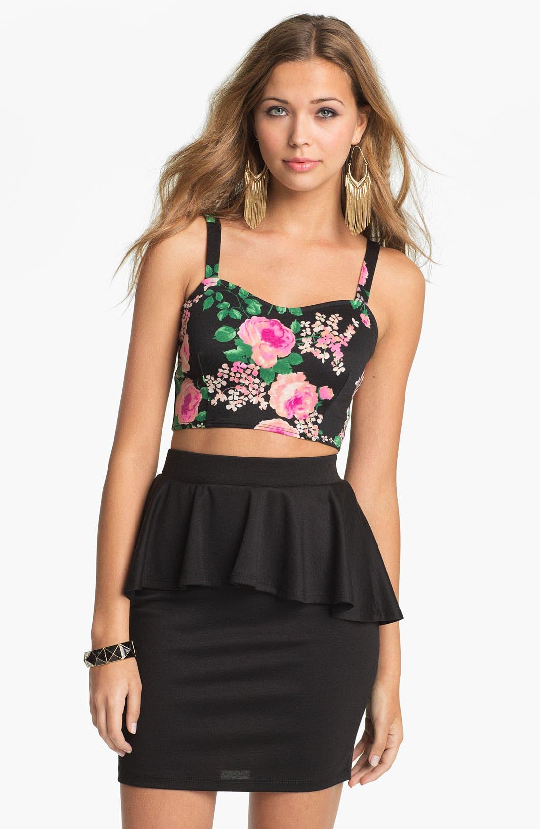 Alternate Image 3  - h.i.p. Peplum Skirt (Juniors)
