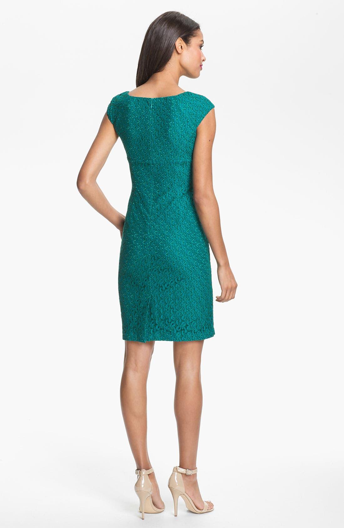 Alternate Image 2  - Adrianna Papell Lace Sheath Dress